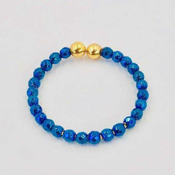 bague hématite -bleu égyptien 2