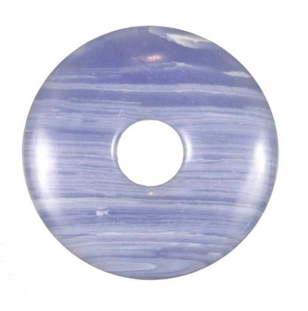 Donut calcédoine bleue